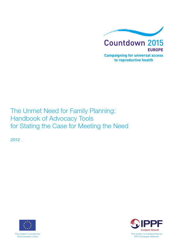 the unmet need for family planning handbook of advocacy tools for