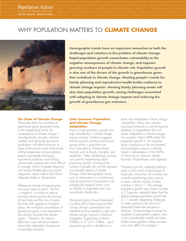 Why Population Matters to Climate Change - ASK-us - Open Access